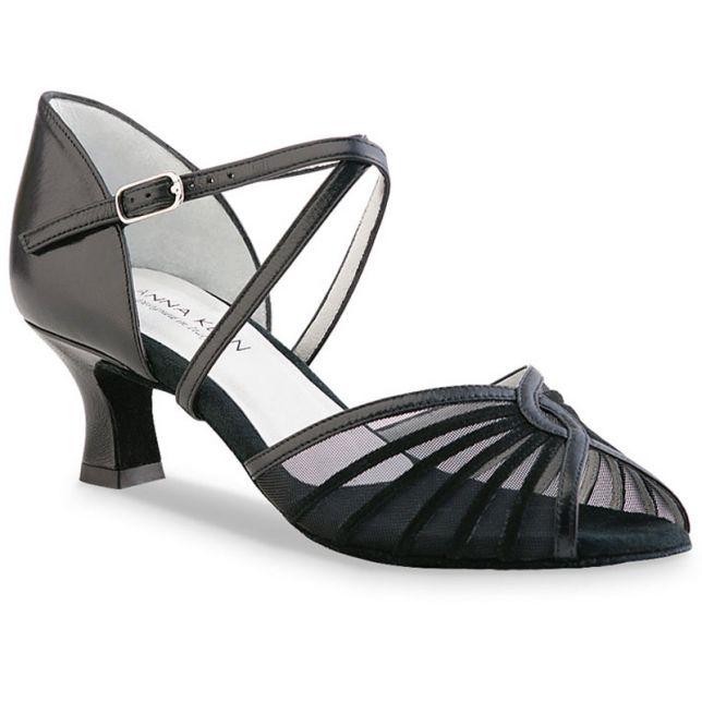 """Chaussures de danse Anna Kern """"Verona"""" 5 cm cuir noir"""