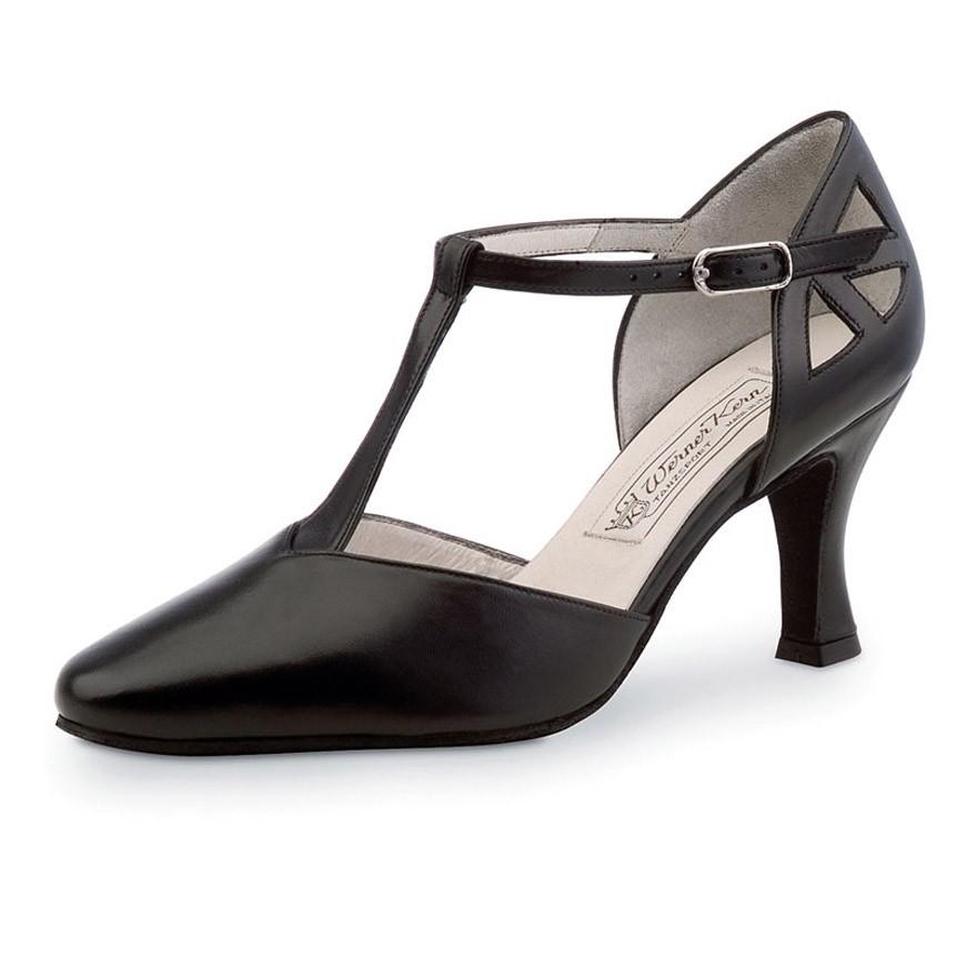 """Chaussures de danse Werner Kern """"Andrea"""" 6,5 cm cuir noir"""