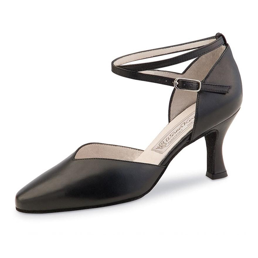 "Chaussures de danse Werner Kern ""Betty"" 6,5 cm cuir noir"