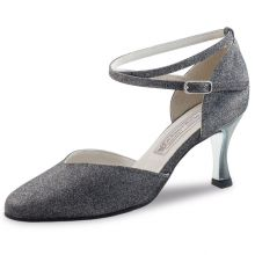 "Chaussures de danse Werner Kern ""Abby"" 6,5 cm broca argent"
