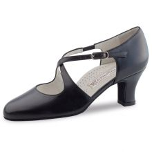 "Chaussures de danse Werner Kern ""Gilian"" 6,5 cm cuir noir"