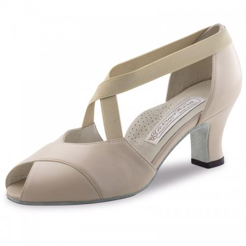 """Chaussures de danse Werner Kern """"Kelly"""" 6 cm cuir beige"""