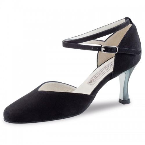 "Chaussures de danse Werner Kern ""Melodie"" 6,5 cm daim noir"