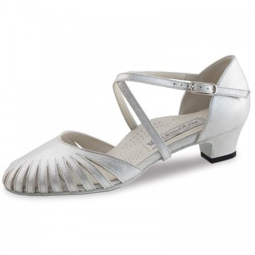 "Chaussures de danse Werner Kern ""Murielle"" 3,4 cm cuir argent"