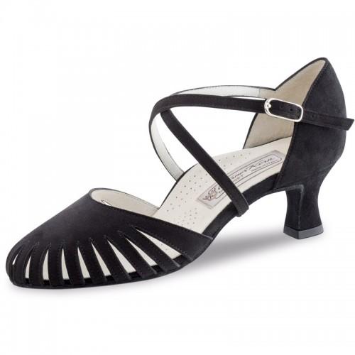 "Chaussures de danse Werner Kern ""Murielle"" 6 cm daim noir"