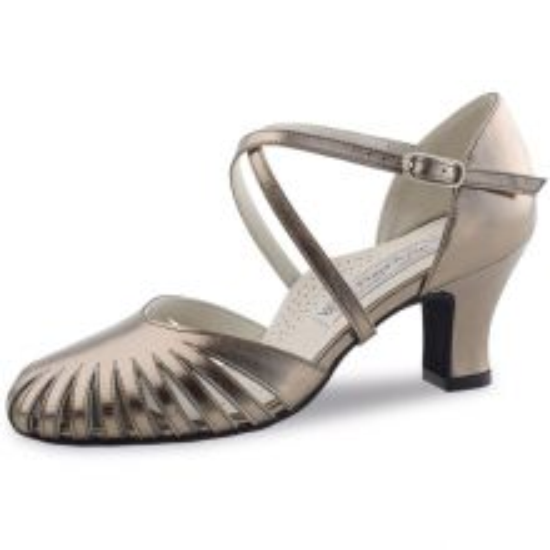 "Chaussures de danse Werner Kern ""Murielle"" 6 cm cuir or"