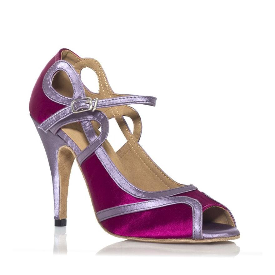 Chaussures de danse label latin laura fushia argent www - Chaussures de danse de salon toulouse ...