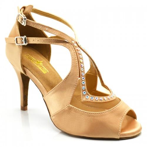 "Chaussures de danse salsa Label Latin ""Lara"" beige nude"