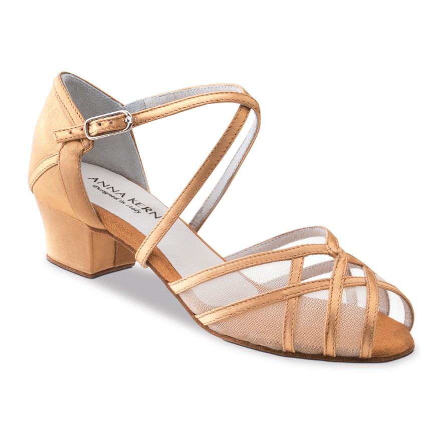 "Chaussures de danse Anna Kern ""Brava"" 3,5 cm satin tan"