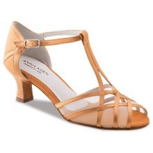 "Chaussures de danse Anna Kern ""Yuna"" 5 cm satin bronze"