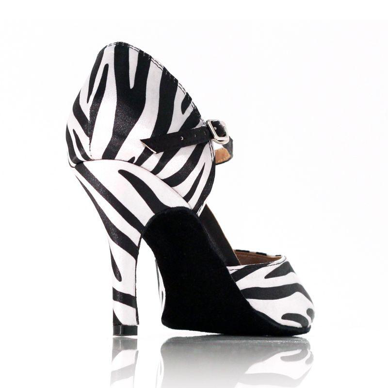 chaussures de danse label latin jungle noir et blanc. Black Bedroom Furniture Sets. Home Design Ideas