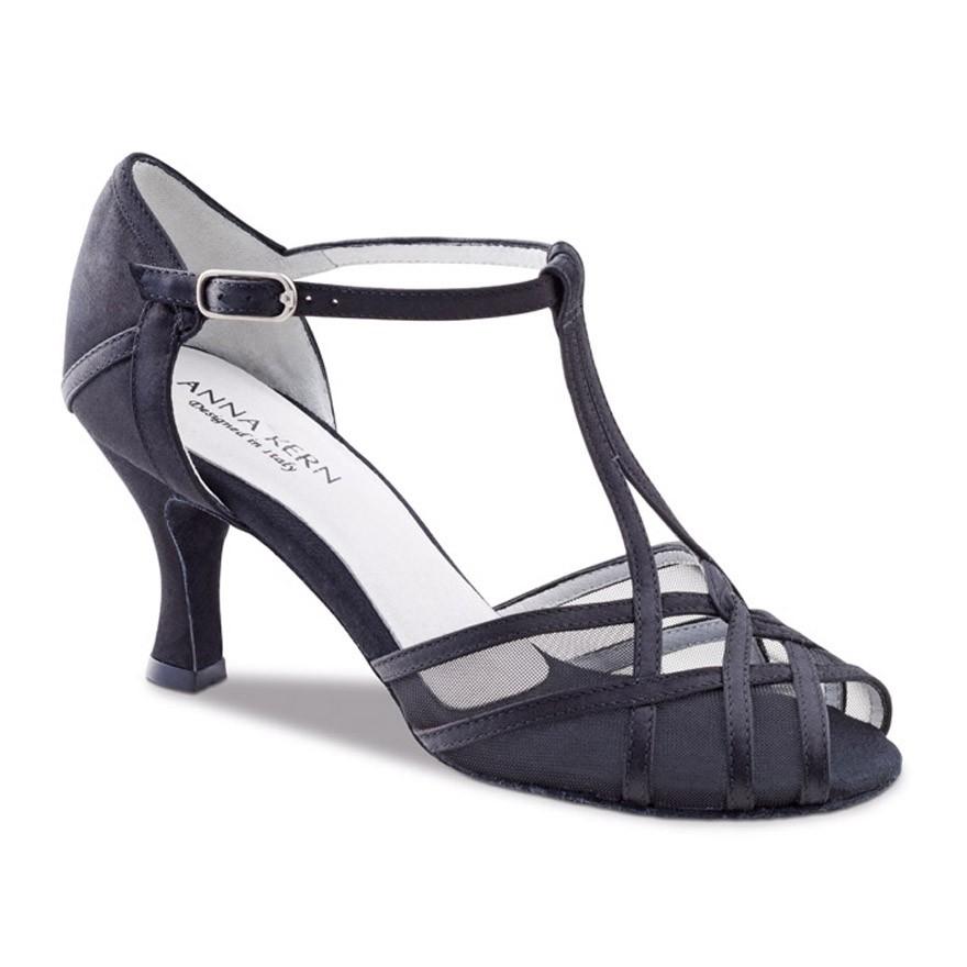 "Chaussures de danse Anna Kern ""Yuna"" 6 cm satin noir"