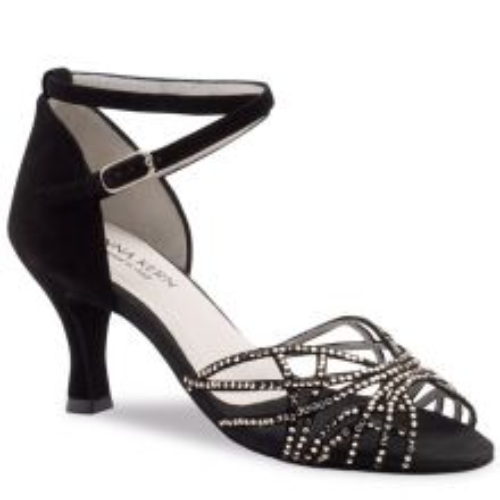 "Chaussures de danse Anna Kern ""Tania"" 6 cm satin noir"