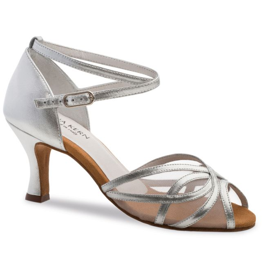 """Chaussures de danse Anna Kern """"Pandora"""" 6 cm cuir argent"""