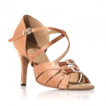 "Chaussures de danse Label Latin""Diamond"" satin tan"