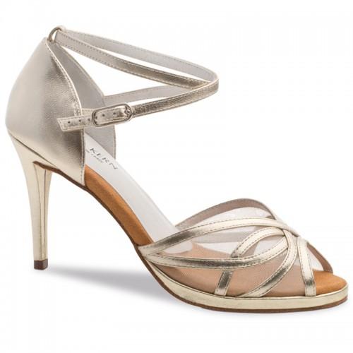 "Chaussures de danse Anna Kern ""Pandora"" 8 cm cuir or"