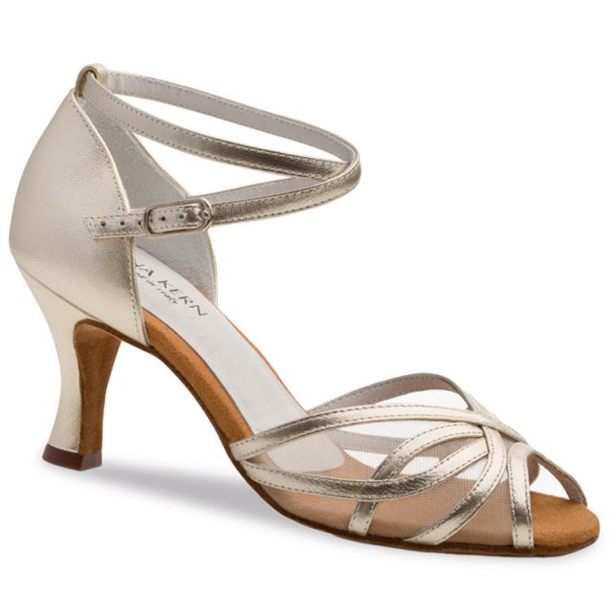"Chaussures de danse Anna Kern ""Pandora"" 6 cm cuir or"