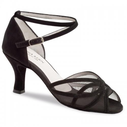 """Chaussures de danse Anna Kern """"Pandora"""" 6 cm daim noir"""