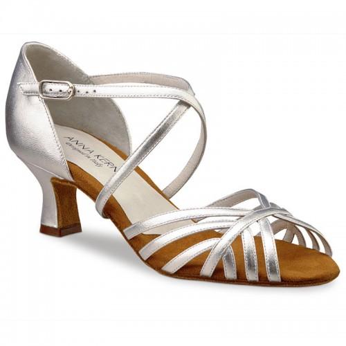 """Chaussures de danse Anna Kern """"Paloma"""" 5 cm cuir argent"""