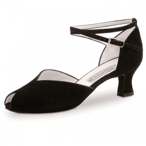 "Chaussures de danse Werner Kern ""Asta"" 5,5 cm daim noir"