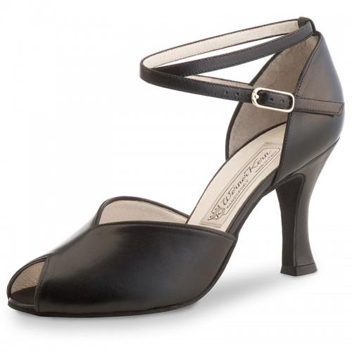 "Chaussures de danse Werner Kern ""Asta"" 8 cm cuir noir"