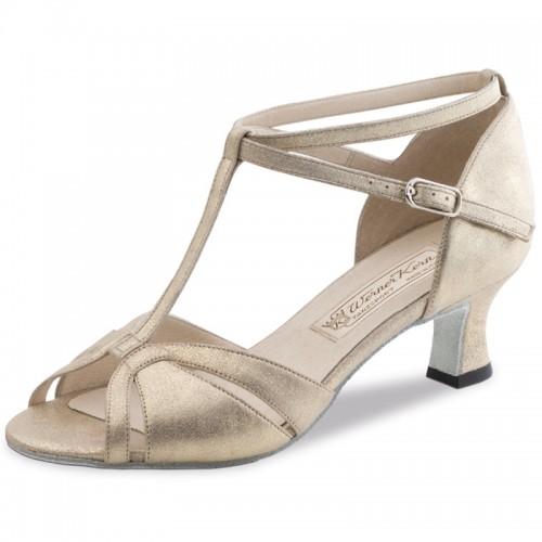 """Chaussures de danse Werner Kern """"Astrid"""" 5,5 cm cuir or"""