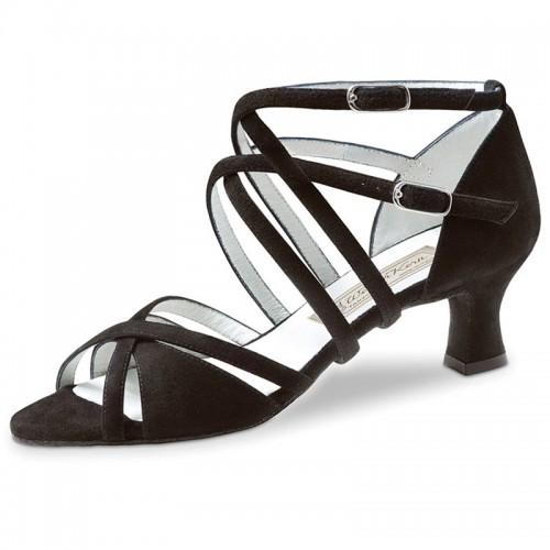 "Chaussures de danse Werner Kern ""Eva"" 5,5 cm daim noir"