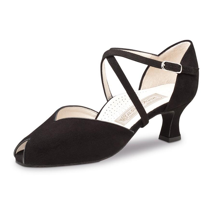 "Chaussures de danse Werner Kern ""Fatima"" 5 cm daim noir"