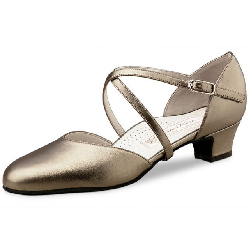 """Chaussures de danse Werner Kern """"Felice"""" 3,4 cm cuir or"""