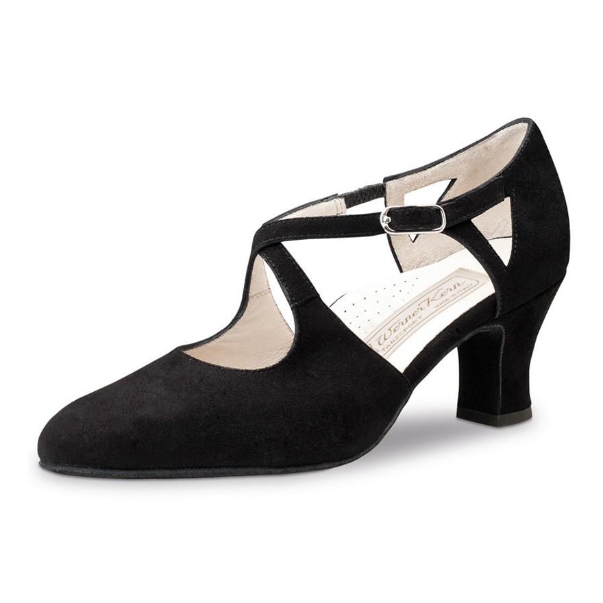 "Chaussures de danse Werner Kern ""Gala"" 6 cm daim noir"