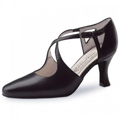 """Chaussures de danse Werner Kern """"Ines"""" 6,5 cm cuir noir"""
