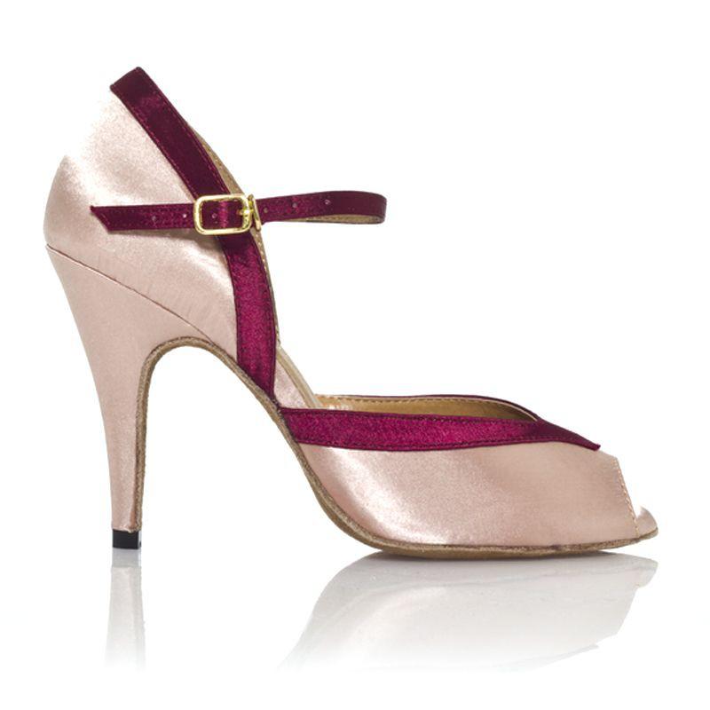 chaussures de danse label latin florence rose bordeau. Black Bedroom Furniture Sets. Home Design Ideas