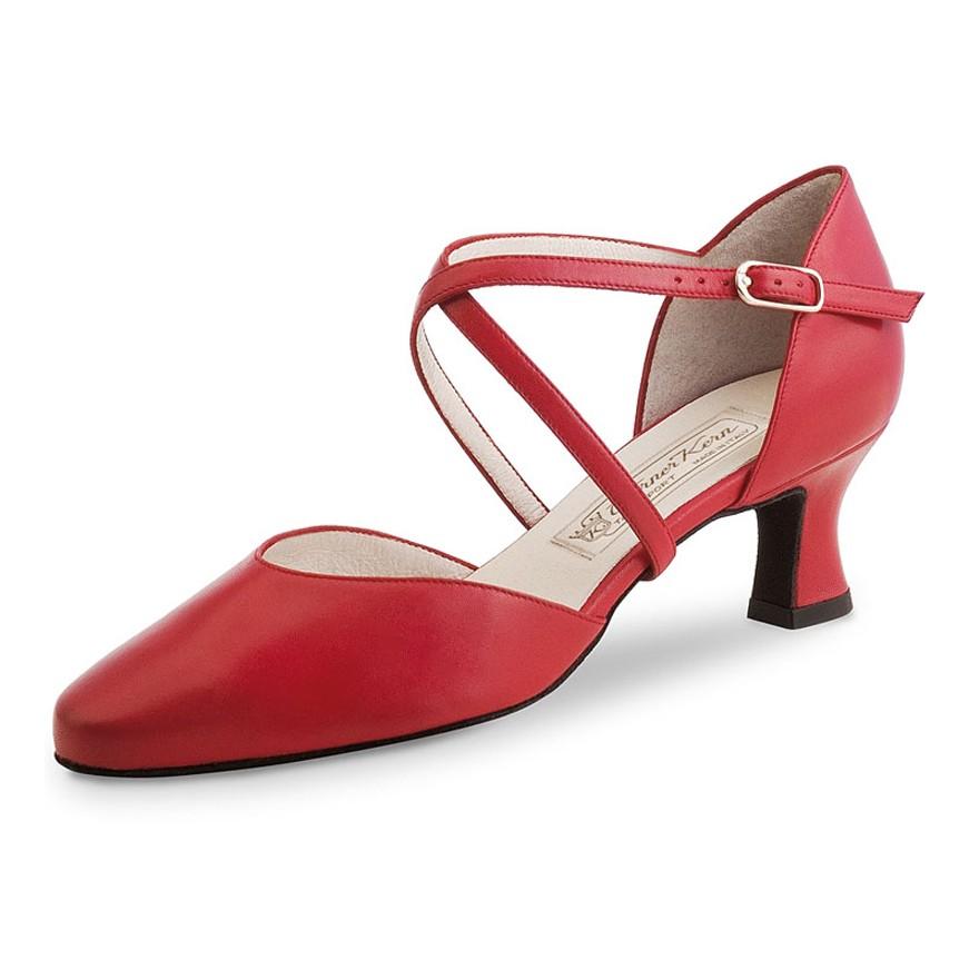 "Chaussures de danse Werner Kern ""Patty"" 5,5 cm cuir rouge"