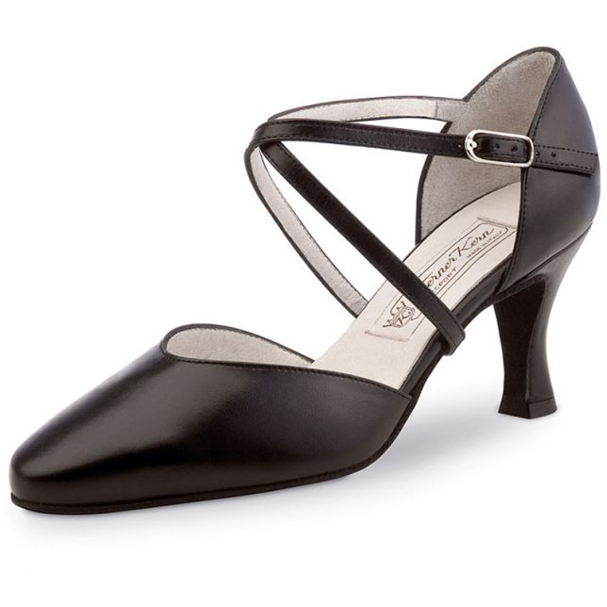 "Chaussures de danse Werner Kern ""Patty"" 6,5 cm cuir noir"