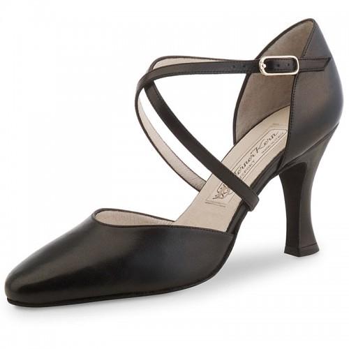 "Chaussures de danse Werner Kern ""Patty"" 8 cm cuir noir"