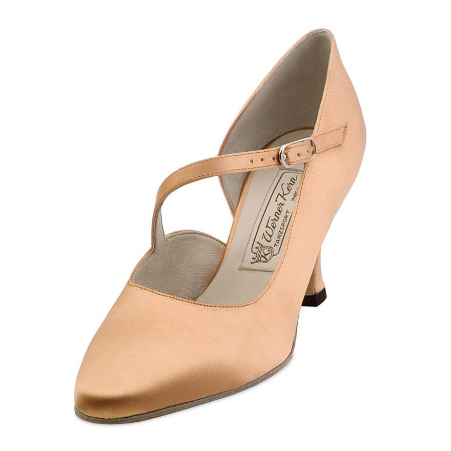"Chaussures de danse Werner Kern ""Rita"" 6,5 cm cuir noir"