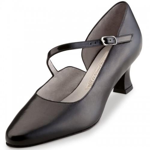 "Chaussures de danse Werner Kern ""Rita"" 5,5 cm cuir noir"