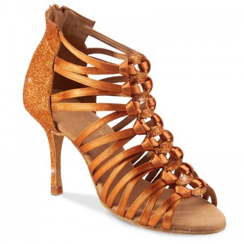 "Chaussures de danse Rummos ""Kenza"" satin et glitter tan"