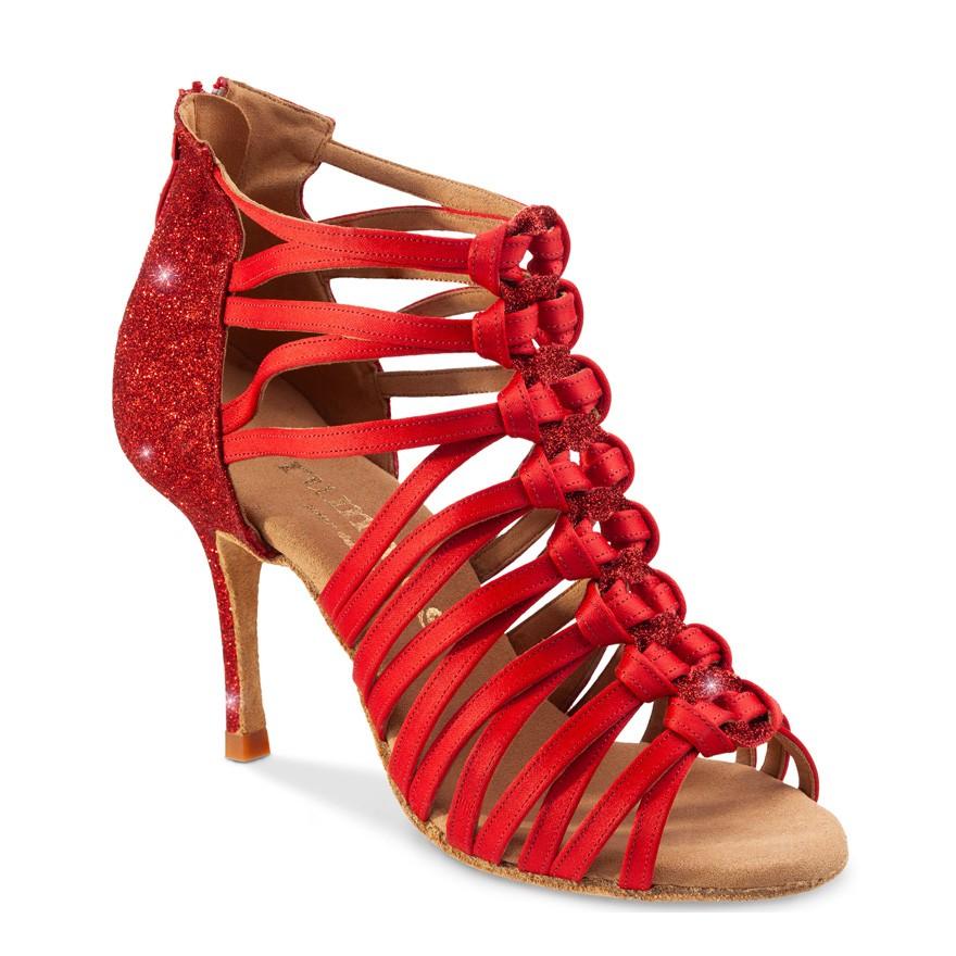 "Chaussures de danse Rummos ""Kenza"" satin et glitter rouge"