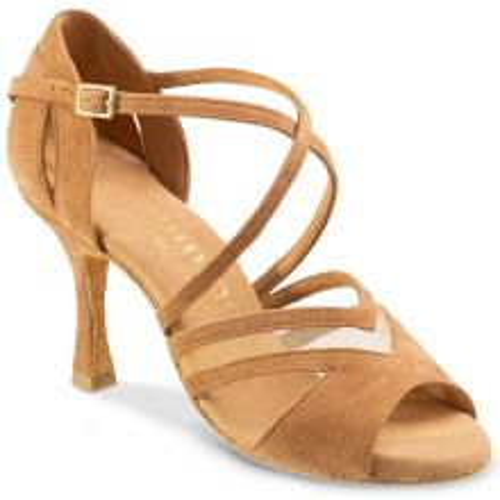 "Chaussures de danse Rummos ""Doris"" nubuck marron clair tan"