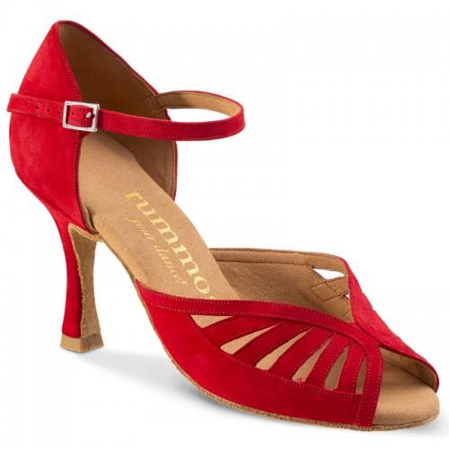 "Chaussures de danse Rummos ""Stella"" nubuck rouge"