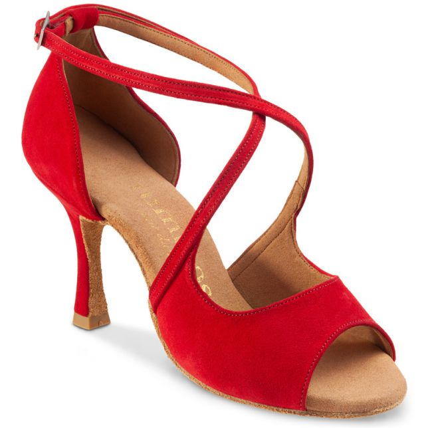 """Chaussures de danse Rummos """"Sorina"""" nubuck rouge"""
