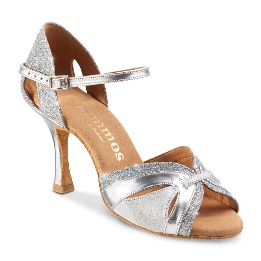 "Chaussures de danse Rummos ""Isabel""cuir et glitter argent"