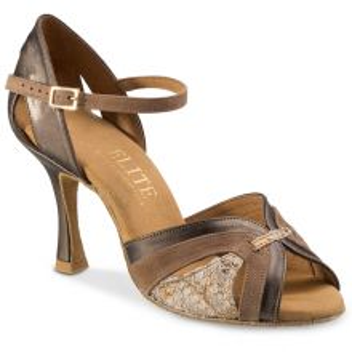 "Chaussures de danse Rummos ""Isabel"" cuir et nubuck taupe"