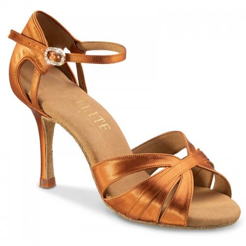 """Chaussures de danse professsionnelles Elite Rummos """"Aura"""" satin tan"""