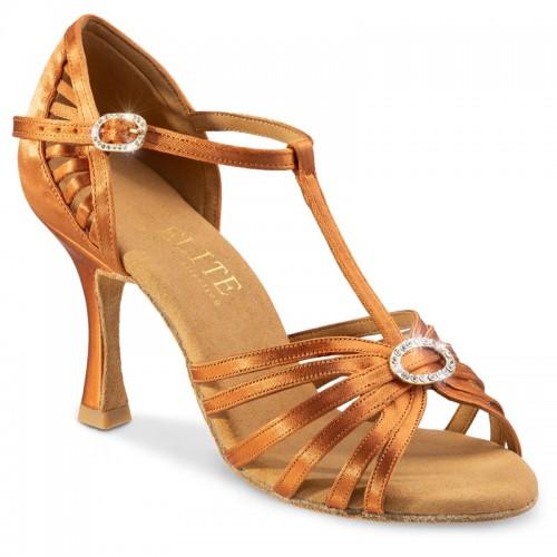 "Chaussures de danse professionnelles Elite Rummos ""Karina"" satin tan"