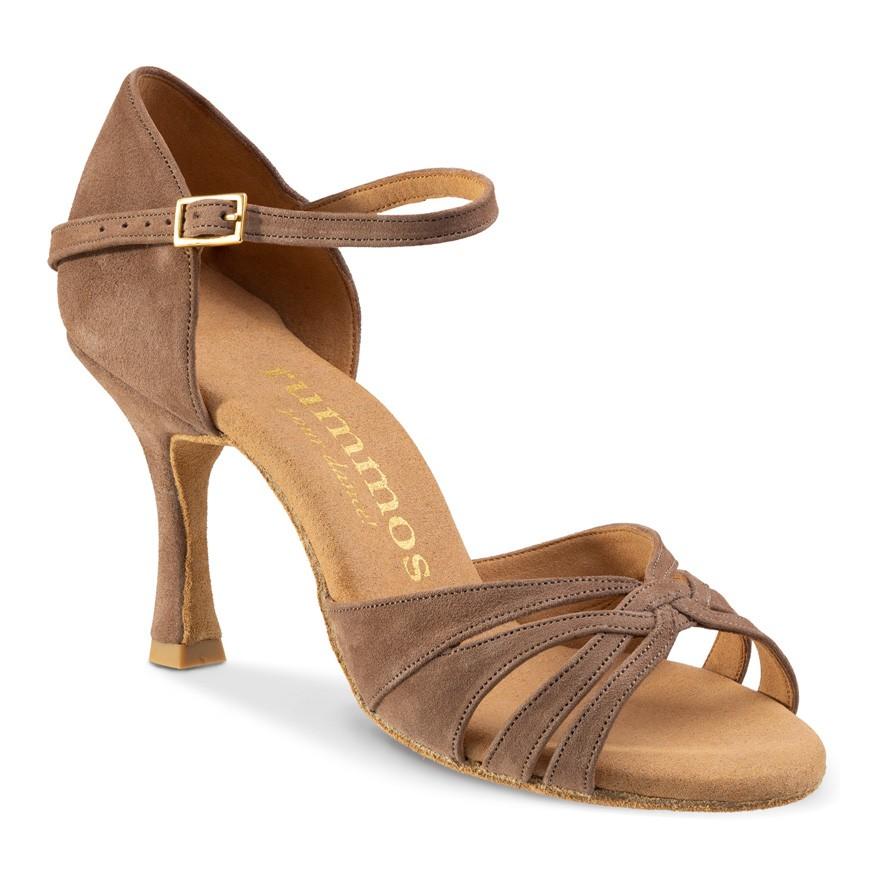"Chaussures de danse Rummos ""Adena"" nubuck taupe"