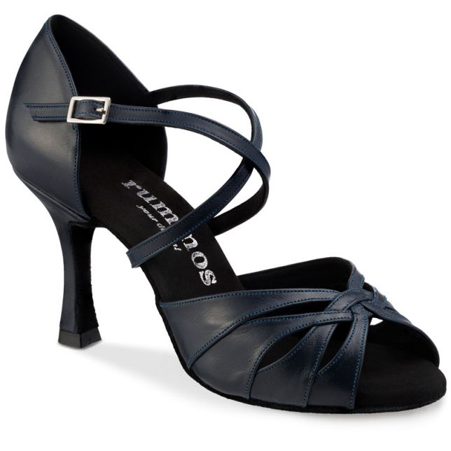 """Chaussures de danse Rummos """"Salena""""cuir bleu navy"""