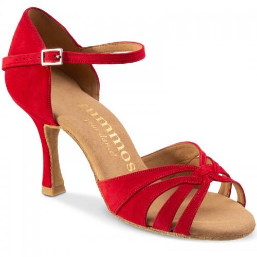 """Chaussures de danse Rummos """"Adena"""" Nubuck rouge"""