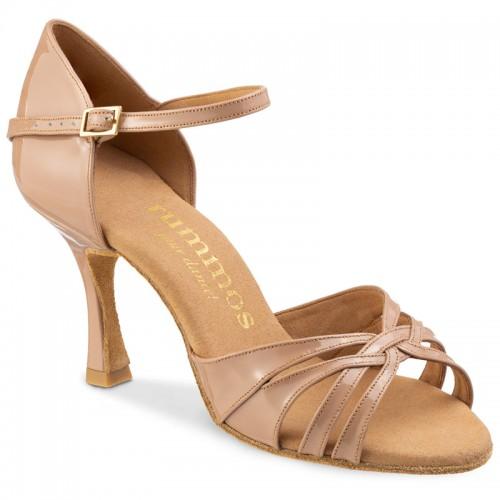 """Chaussures de danse Rummos """"Adena"""" cuir vernis beige nude"""